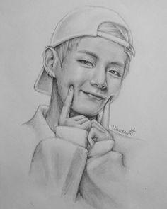 New drawing realistic bts 43 ideas Kpop Drawings, Pencil Art Drawings, Art Drawings Sketches, Taehyung Fanart, Bts Chibi, Kpop Fanart, Bts Pictures, Drawing People, Art Inspo