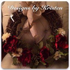 Handmade Wreath...made by me!