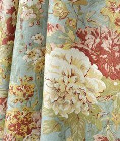 fabric waverly upholstery | Waverly Ballad Bouquet Robins Egg Fabric | onlinefabricstore.net