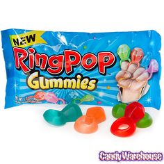 Ring Pop Gummies | Candy Fashion, Accessories & Art Candy Jewelry Ring Pop Gummies Candy ...
