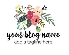 Beautiful custom blog logo with bright beautiful flowers and preppy font. Customized for you.  - 2 revisions - 300dpi PNG (with a transparent background to use as a watermark) - 72dpi JPG, optimal for web use   ------------------------------------------------------------------------------- This listing is for digital files only. No physical items will be shipped. This logo is customized to you but the design will be resold…
