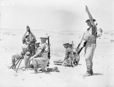 BRITISH ARMY NORTH AFRICA (E 126) A 3-inch mortar crew of the 2nd Cameron Highlanders training at Mena Camp near Giza, Egypt, 4 June 1940.