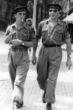 French Marine Commandos,  Saigon 1950/51.  Indochina would fall to the Vietnamese communists under Ho Chi Minh in 1954.  America then began to get involved in the area to help insure that the 1954 dividing line between North and South Vietnam would be respected.  It wasn't, and our Vietnam War ensued, and would last until 1975.