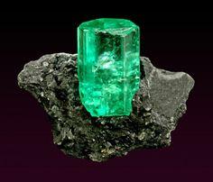 Beryl var. Emerald, Chivor Mine, Columbia