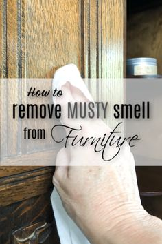 Have you ever wondered how to remove that musty smell from wood furniture? I have a few solutions that you can try that works well for me. Cleaning Wood Furniture, Furniture Cleaner, Furniture Fix, Musty Smell In House, Wood Mantle, Wood Dresser, Diy Cleaners, Wooden Cabinets, Natural Cleaning Products