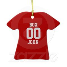 Sports Jersey Custom Christmas Ornaments