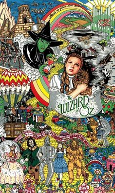 "Charles Fazzino's ""Wizard of Oz"" - Museum Edition - Retired and Sold Out Wizard Of Oz Movie, Wizard Of Oz 1939, Wizard Of Oz Pictures, Wizard Of Oz Tattoos, Land Of Oz, Yellow Brick Road, Judy Garland, Film Serie, Over The Rainbow"