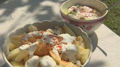 Receptek – Gasztroangyal   Magyarország finom. Potato Salad, Potatoes, Cheese, Chicken, Meat, Ethnic Recipes, Food, Eten, Potato
