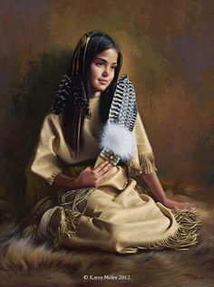 "Native American Art Prints | ... "" Original Oil 24"" x 18"" -Native American Paintings by Karen Noles"