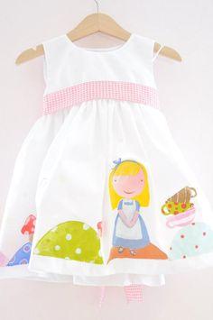 alice in wonderland dress - christening