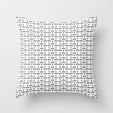 Dots and drops dark blue  pattern Throw Pillow