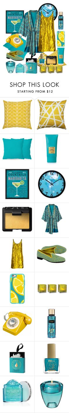 """Oaza"" by elshakalaka ❤ liked on Polyvore featuring Orla Kiely, Pillow Decor, Joybird, Tom Ford, Green Leaf Art, NARS Cosmetics, Prada, Stubbs & Wootton, Casetify and Cultural Intrigue"