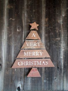 Primitive Christmas Tree Rustic Sign Holiday by kathleenmelville1, $22.00