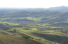 Garden view over the Maremma hills (April)