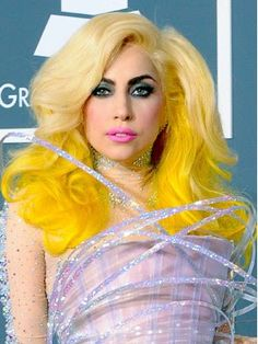 Lady Gaga does Blonde and Yellow hair