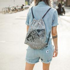 Vans Drawstring Backpack, Vans, Backpacks, Fashion, Accessories, Moda, Fashion Styles, Van, Women's Backpack