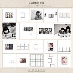 snapshots no. 3 photobook template