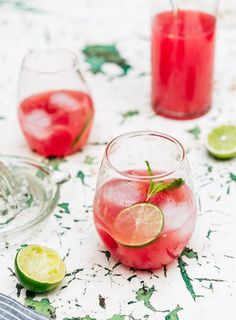 Use a mortar and pestle to mash the mint leaves. Place the vodka, watermelon, sugar syrup, lime juice and mint in a blender and process until smooth. If you prefer a clear syrup, strain the mixture through a sieve, or ...
