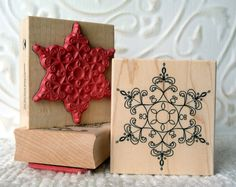 Perfect Snowflake rubber stamp from by oldislandstamps on Etsy, $11.75