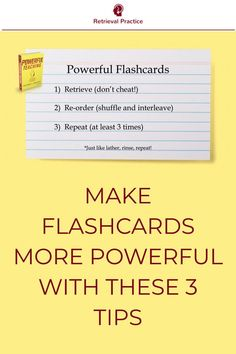 Lots of students use flashcards. But using flashcards doesn't guarantee they're using retrieval practice. In fact, students could be wasting their time. Study Skills, Study Tips, Teaching Strategies, Teaching Ideas, Retrieval Practice, Study Flashcards, Cult Of Pedagogy, Problem Solving Activities, Finals Week