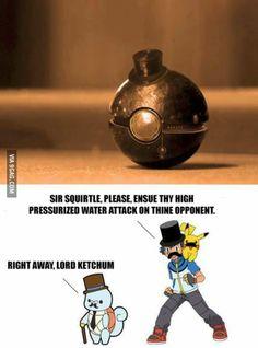 Training Pokemon like a sir jajajaja