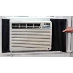 Air Conditioner Insulators: Keep the cold air out during the winter so you can leave your big heavy air conditioning unit in your window all year long! #bulbhead #winterproblems