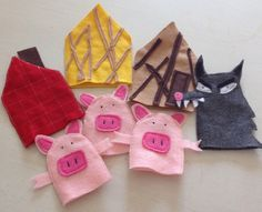 A personal favorite from my Etsy shop https://www.etsy.com/listing/247221518/three-little-pigs-hand-puppets