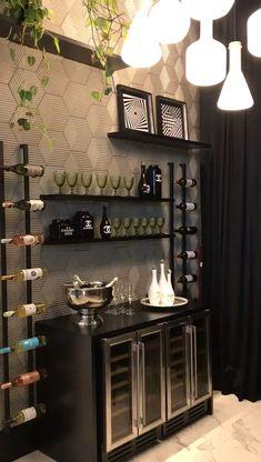 Home Bar Rooms, Home Bar Areas, Diy Home Bar, Home Bar Decor, Home Decor Kitchen, Home Wine Bar, Bar Kitchen, Home Bar Counter, Home Bar Cabinet