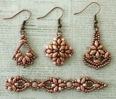 Linda's Crafty Inspirations: SuperDuo Beads - I love the center one - it makes such a cute, petite earring.