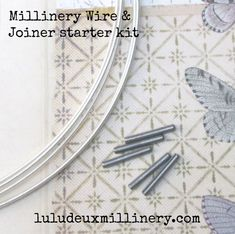 STARTER KIT: 5 yards white 19 gauge millinery wire & 5 steel joiners