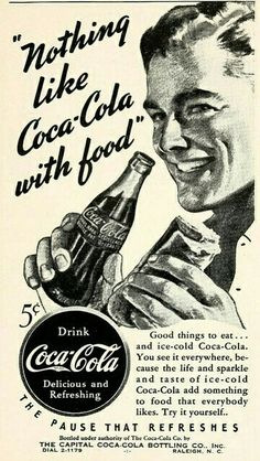 North Carolina State Fair Premium List 1941 by Government & Heritage Library, State Library of NC. Did you know that the original Coca Cola had cocaine in it? Coca Cola Poster, Coca Cola Ad, Always Coca Cola, World Of Coca Cola, Pepsi, Vintage Coca Cola, Old Advertisements, Retro Advertising, Poster Vintage
