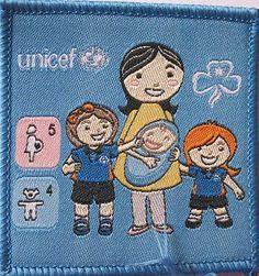 GIRL GUIDES AUSTRALIA UNICEF CLOTH BADGE | eBay
