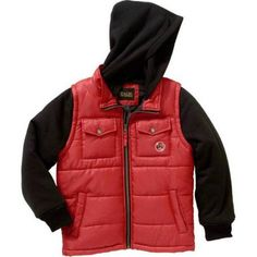 iXtreme Boys Puffer Jacket, Available in 4 Designs 11 Colors, Size: 8, Red