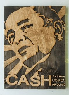 $950 -  Johnny Cash, 3D sculptured wall hanging wooden art, Country, wood | ChrisKnightCreations - Woodworking on ArtFire