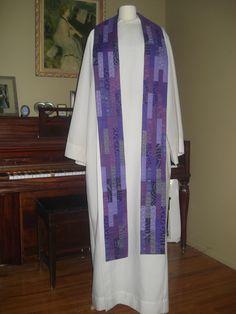 Clergy Stole - Lent via Etsy.