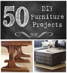 50 DIY Furniture Projects (so many great ideas!)