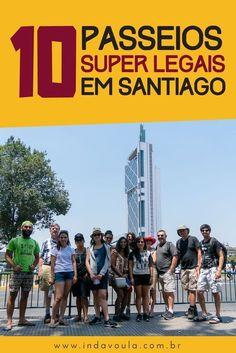 Não tem ideia do que fazer em Santiago? Confira esses 10 passeios imperdíveis! Wanderlust Hotel, South America Travel, Latin America, Caribbean, Travel Tips, Places To Visit, Around The Worlds, City, Black