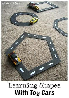 Hands on way to learn shapes: with toy cards! A perfect activity for preschoolers and toddlers!