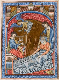 David: playing before Saul   Psalter   England, perhaps London, ca. 1225   The Morgan Library & Museum