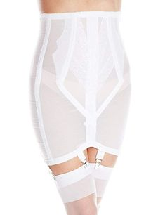 Rago Womens PlusSize High Waist Open Bottom Girdle with Zipper White 44 * To view further for this item, visit the image link. Pin Up Lingerie, Retro Lingerie, Lingerie Styles, Fashion Lingerie, Brand Review, Dress With Stockings, Black Stockings, Lingerie Sleepwear, 1950s Fashion