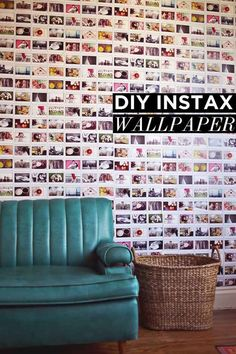Use photos from your travels to make a massive accent wall: