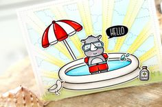 Please join me in welcoming back very special guest Elena Roussakis with this absolutely darling Summer … Neat And Tangled, Simon Says Stamp Blog, Summer Scenes, Kiddie Pool, Distress Oxide Ink, Happy Wednesday, Ink Pads, Copic Markers, Card Kit