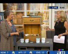 Annie Sloan recently stopped by The Loop in Toronto, Canada for a quick TV segment showing how to easily transform furniture with Chalk Paint® decorative paint by Annie Sloan and Soft Wax!