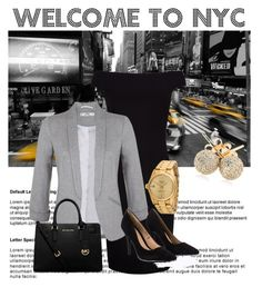 """""""NYC!"""" by annalik on Polyvore featuring Ted Baker, Miss Selfridge, Rolex, Lipsy, MICHAEL Michael Kors and Loushelou"""