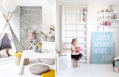Create the perfect playroom with help from our useful tips and ideas - style, design, hide-ins, teepees, kidsplay, reading nook, craft corner, indoor swings