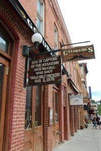 Historical Sign in Deadwood, South Dakota