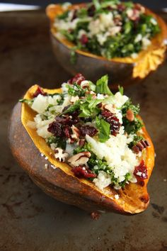 Roasted Acorn Squash With Quinoa And Red Rice Stuffing Recipe ...