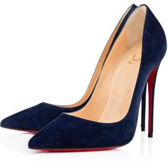Women Pumps - Christian Louboutin Online Boutique (11,110 MXN) ❤ liked on Polyvore featuring shoes, pumps, christian louboutin, louboutin, heels, christian louboutin shoes, heel pump, velour shoes and christian louboutin pumps