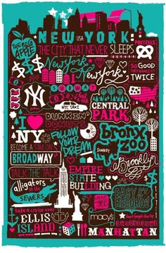 NYC - want to do this for my favorite towns and vacation spots :)