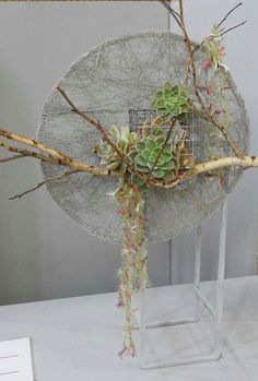 by Ena Hume Deco floral Arrangements Ikebana, Creative Flower Arrangements, Floral Arrangements, Deco Floral, Arte Floral, Floral Design, Flower Show, Flower Art, How To Preserve Flowers